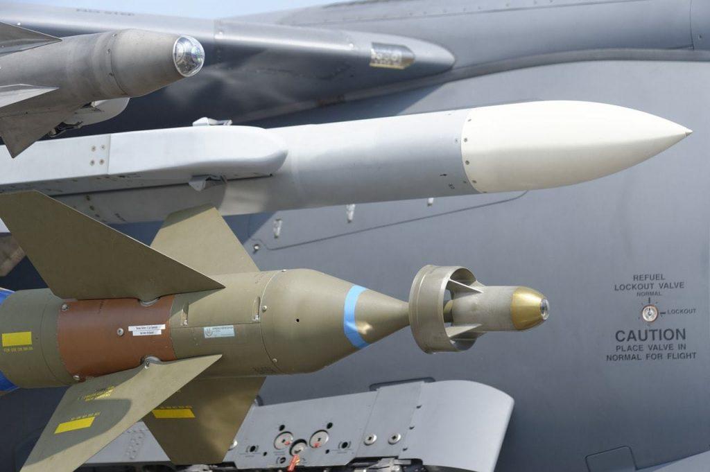 Missiles on jet