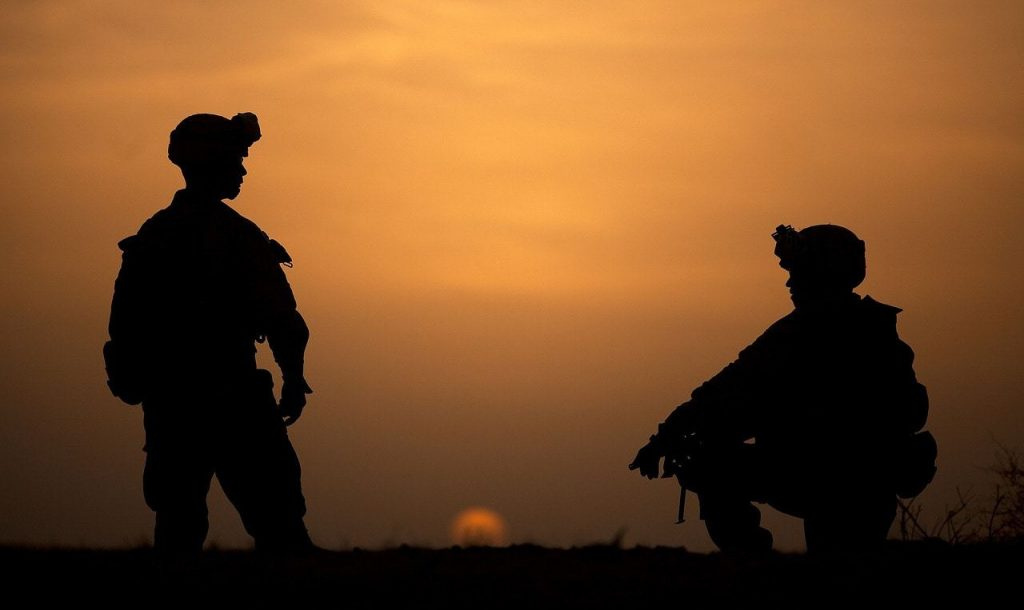 Soldiers make war preparations