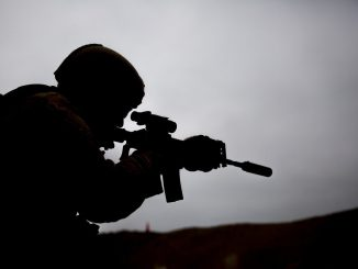 Sniper in action