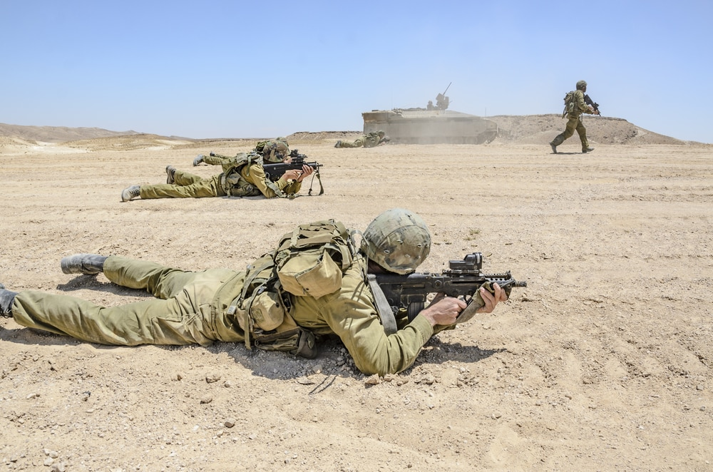 Israeli soldier firing