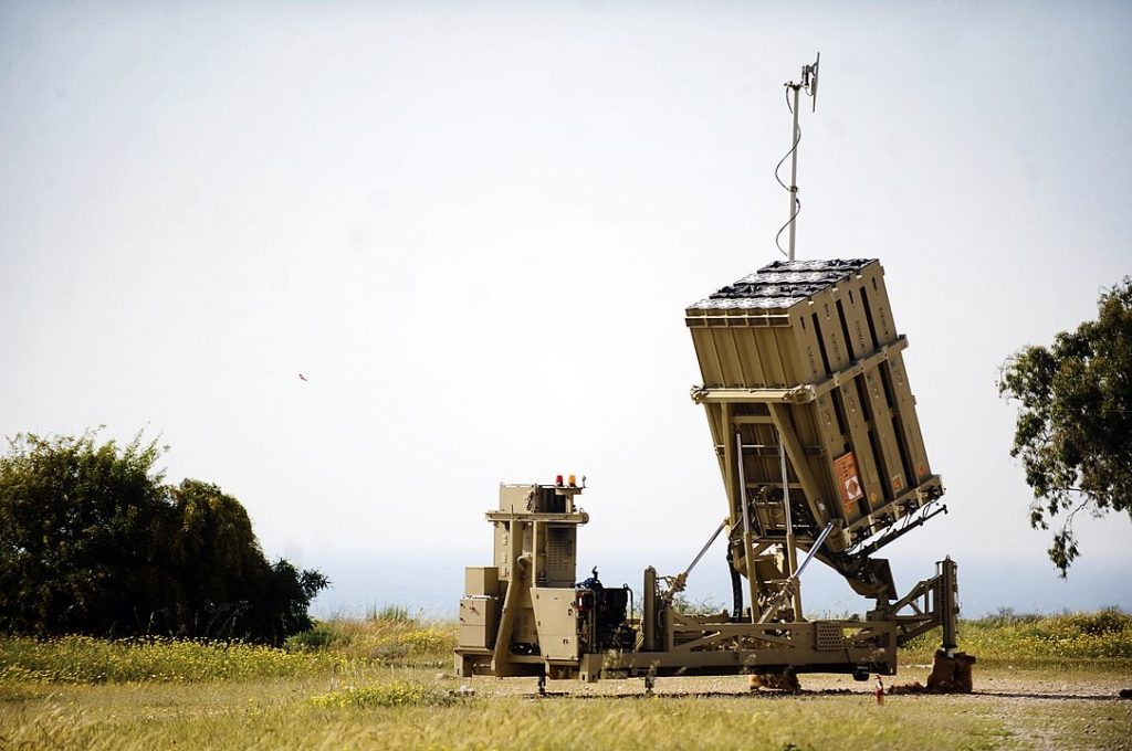 Iron Dome battery near Gaza