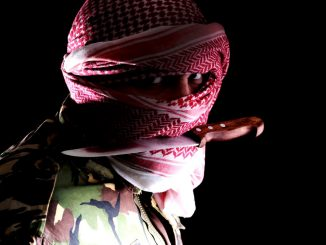 Terrorist with knife