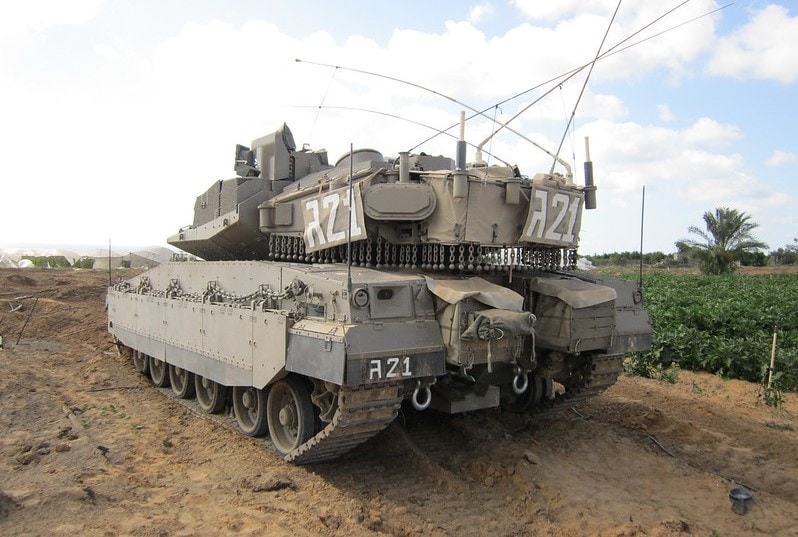 IDF vehicle near Gaza