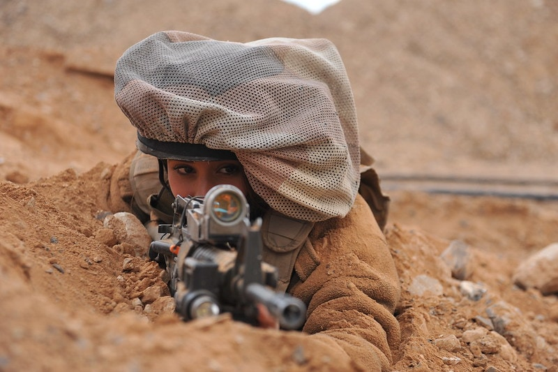 IDF female soldier