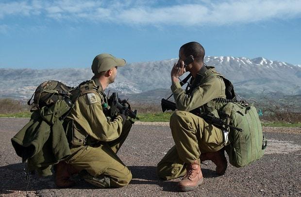 IDF soldiers on Syria border