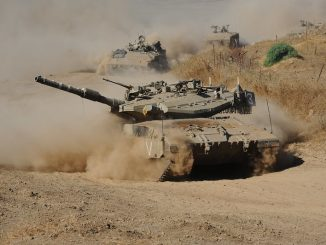 IDF tanks on road