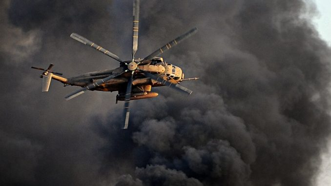 IDF helicopter at war
