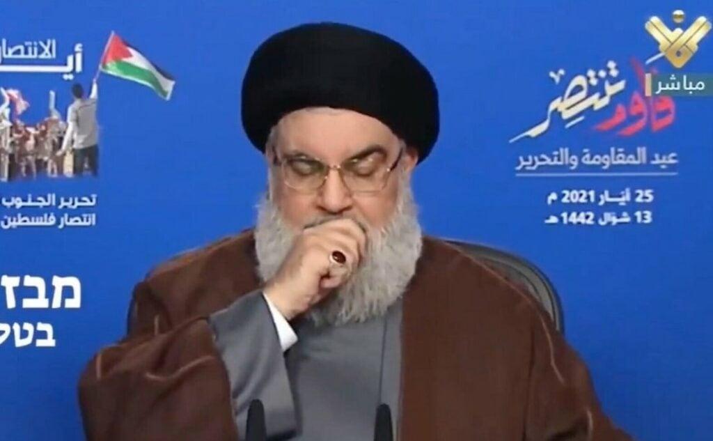 Nasrallah Sick With COVID-19, Israeli Officials Estimate 1